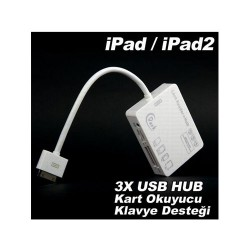 Connection Kit iphone 4s iPad/iPad2 5in1 3xUSB Çoklu Kart Okuyucu Combo Bağlantı Kiti