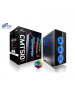 FSP CMT510 PSU Yok Mid Tower Gaming Kasa 3X120CM RGB LED Fanlı