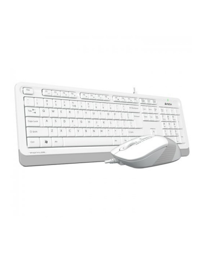 A4 TECH F1010 Q Usb Beyaz MM Klavye/Mouse Set